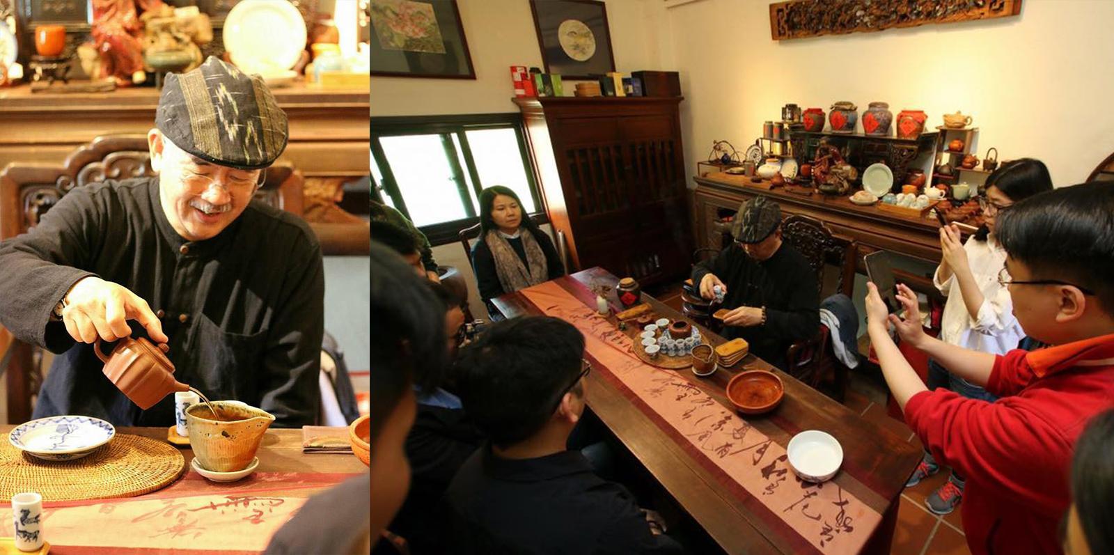 臺灣文俗協會 會長  江兆坤 先生 示範雙杯泡